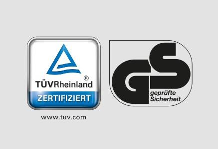 Seguridad comprobada por el organismo alemán estilo moderno TüV Rheinland