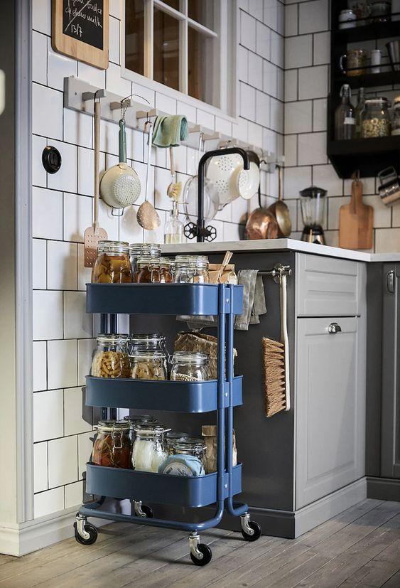 Carro para hará mantener la encimera de tu cocina simpare limpia y ordenada